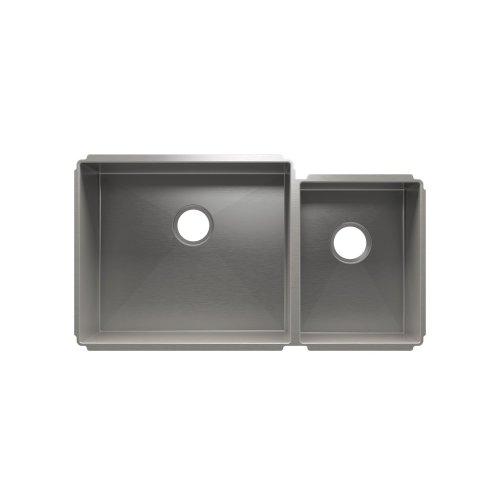"""J7® 003959 - undermount stainless steel Kitchen sink , 21"""" × 18"""" × 10""""  12"""" × 16"""" × 8"""""""