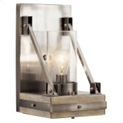 Colerne 1 Light Wall Sconce Classic Pewter