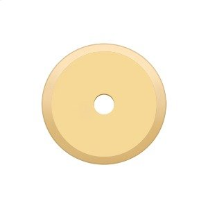 """Base Plate for Knobs, 1-1/4"""" Diam. - PVD Polished Brass Product Image"""