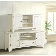 Grand Haven - 56-inch TV Console - Feathered White Finish Product Image