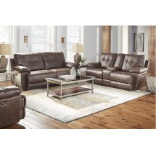 Brown Power Console Loveseat