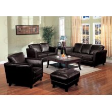 "LOVESEAT,BROWN/F 58-1/4""x35-1/2""x36-1/4""H"