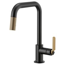 Pull-down Faucet With Square Spout and Industrial Handle