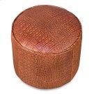 Round Footrest, Embossed Croc Tan Lthr Product Image