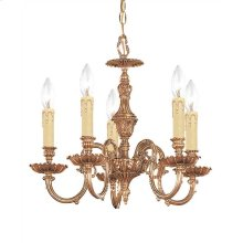 Novella 5 Light Olde Brass Mini Chandelier