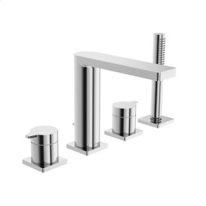 Riva X 4-hole roman tub trim kit, chrome Product Image