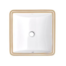 Webster Under Counter 16 Inch by 16 Inch Bathroom Sink - Canvas White