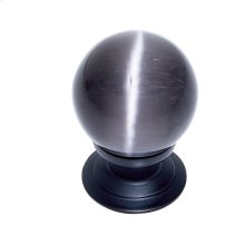 Oil Rubbed Bronze 30 mm Grey Cat's Eye Knob