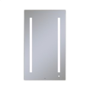 """Aio 23-1/8"""" X 39-1/4"""" X 1-1/2"""" Lighted Mirror With Lum Lighting At 4000 Kelvin Temperature (cool Light), Dimmable, Usb Charging Ports and Om Audio Product Image"""