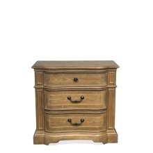 Verona Three Drawer Nightstand Light Sienna finish
