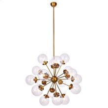 LANDON CHANDELIER  Clear Glass Globes with Brass Finished Metal