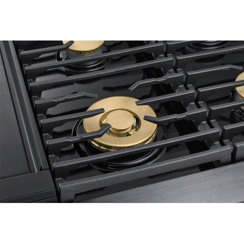 "48"" Pro Dual-Fuel Steam Range, Silver Stainless Steel, Liquid Propane/High Altitude"