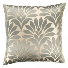 Gisela Contemporary Decorative Feather and Down Throw Pillow In Jade Jacquard Fabric