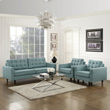 Empress Sofa and Armchairs Set of 3 in Laguna