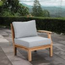 Marina Outdoor Patio Teak Right-Facing Sofa in Natural Gray Product Image