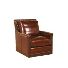 Prescott Swivel Chair - Brooklyn Saddle
