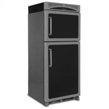 Black Left Hinge Classic Refrigerator Top Mount Freezer