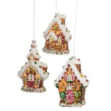 Gingerbread House Ornament. (3 pc. ppk.)