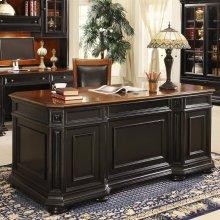 Allegro - Executive Desk - Burnished Cherry/rubbed Black Finish