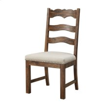 Side Chair Slat Back Upholstered Seat Rta