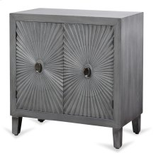 Grey Wooden Starburst Cabinet  33in X 32in X 16in  Two Door Cabinet