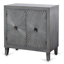 Grey Wooden Starburst Cabinet  33in X 32in X 16in  Two Door Cabinet