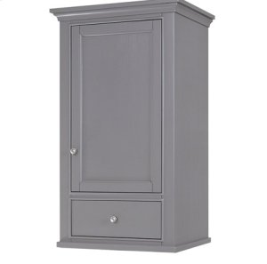 "Smithfield 21x18"" Linen Hutch - Medium Gray Product Image"