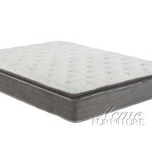 Cicely Gray Suede California King Pillow Top Mattress Set