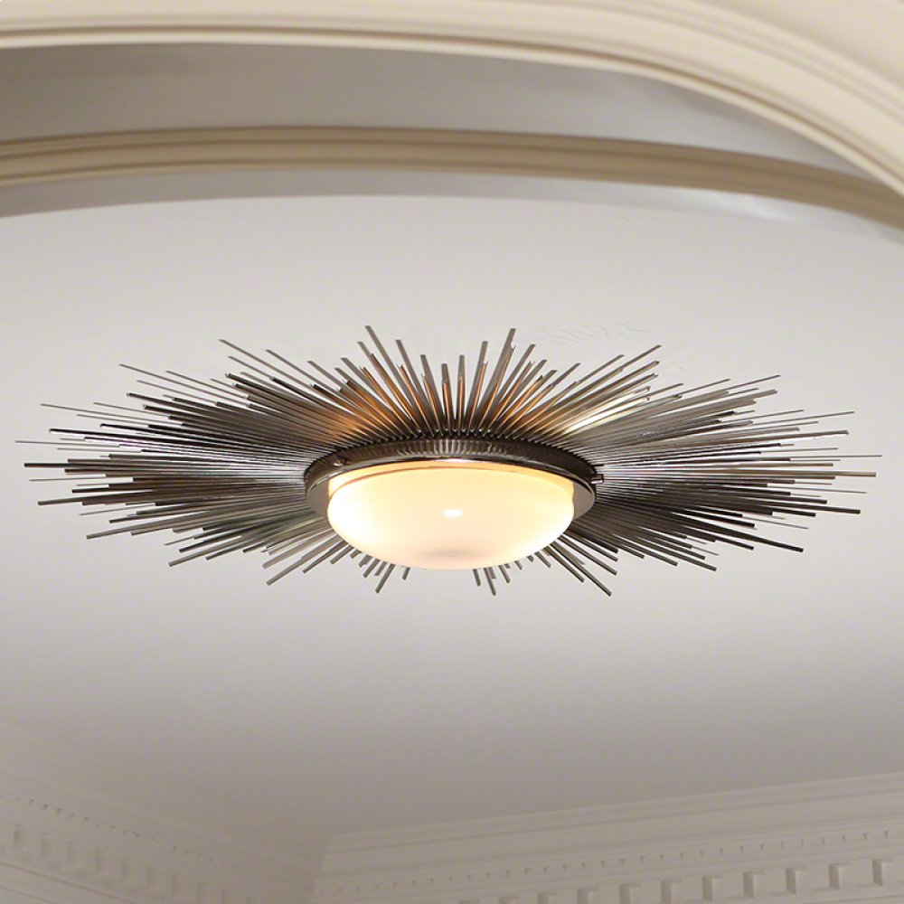Sunburst Light Fixture-Nickel
