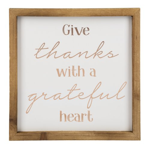 Wall Plaque - Give thanks with a grateful heart