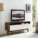 "Origin 47"" TV Stand in Walnut White Product Image"