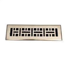 "Ventura Brass Heat Register - 2 1/4"" x 10"" (4"" x 11 1/2"") / Polished Brass"