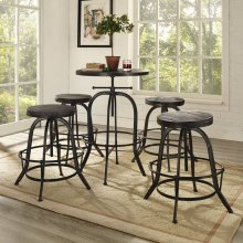 Gather 5 Piece Dining Set in Black