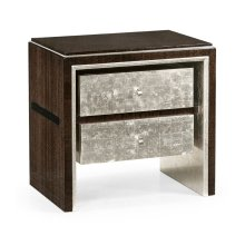 Black Eucalyptus & Silver Espresso Nightstand with Drawers