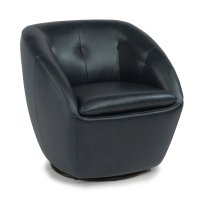 Wade Leather Swivel Chair Product Image