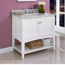 "Shaker Americana 36"" Open Shelf Vanity - Polar White Product Image"