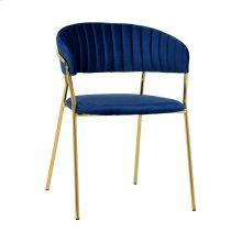 Padma Navy Velvet Chair (Set of 2)