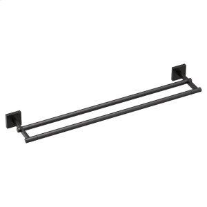 "Triva matte black 24"" double towel bar Product Image"