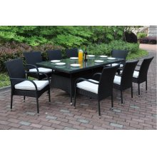 224 / Liz.p20- 7PC OUTDOOR PATIO TABLE SET [P50271(1)+P50161(8)]