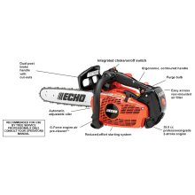 ECHO CS-355T 35.8 cc Top Handle Chain Saw