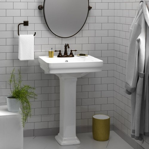 "Sussex 550 Pedestal Lavatory - 8"" Widespread / White"