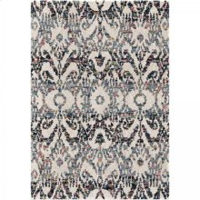 Bagdra Contemporary 8x10 Area Rug in Cream/Multi-Color