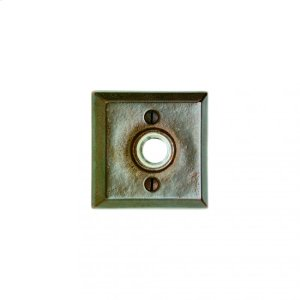 Square Doorbell Button Silicon Bronze Brushed Product Image