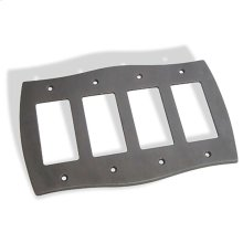 Quad GFI Colonial Switch Plate - Distressed Oil Rubbed Bronze