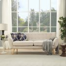 Remark Upholstered Fabric Sofa in Beige Product Image