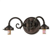 2 S-ARM SCONCE/PLAIN FITTERS/ROT SWITCH