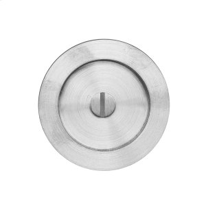Round flush pull 65 with emergency release, Antique Brass Dark Product Image