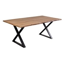 Manzanita Natural Acacia Dining Table with Different Bases, VCA-DT72N