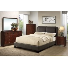 Espresso Full Size Platform bed Frame (No Box Spring Required)