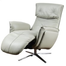 PADDINGTON POWER RECLINER  Gray Leather on Hardwood Frame